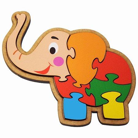 Quebra-cabeça elefante 3+