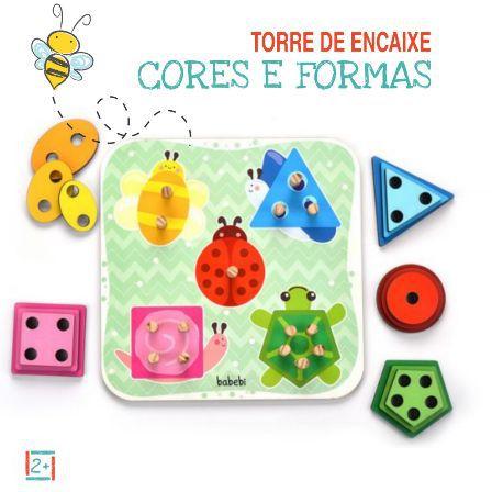Torre de Encaixe Cores e Formas - 2+