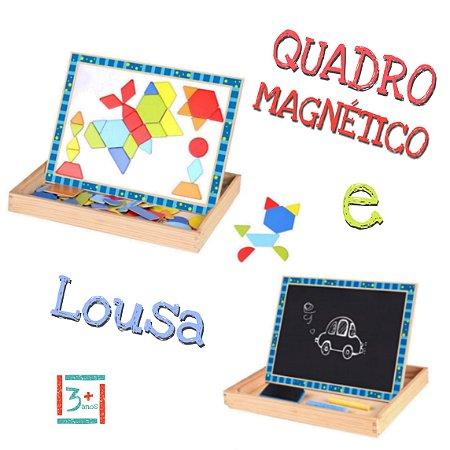 Quadro Magnético E Lousa Formas - 3+