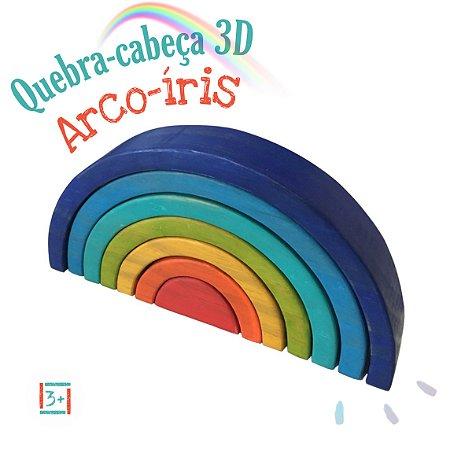 Quebra Cabeça 3D Arco Íris 7 Cores 3+