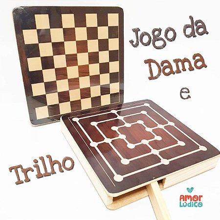 Jogo da Dama e Trilha com caixa - 5+