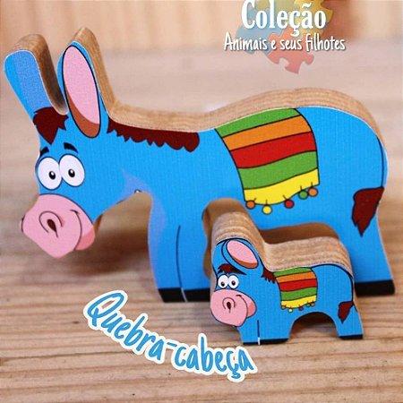 Mini Quebra-cabeça Zoo Burrinho - 18m+