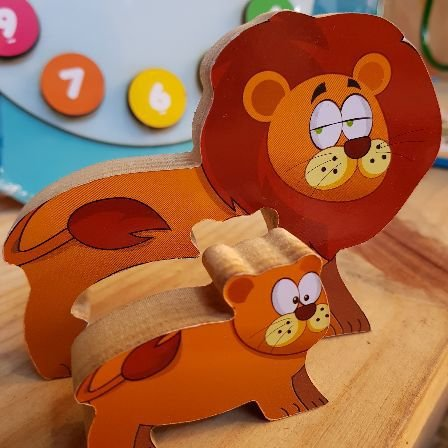 Mini quebra-cabeça zoo Leão 3+