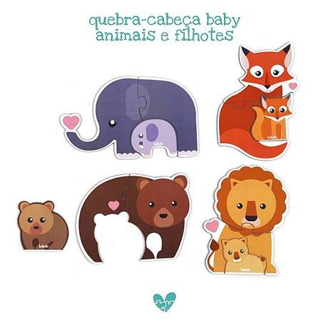 Quebra Cabeça Baby Animais e Filhotes - 2+