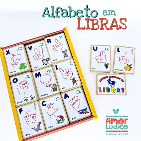 Alfabeto em Libras -  5+