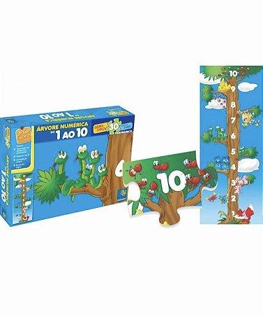 Quebra Cabeça Árvore Numérica Panorâmico 30 Peças  - 3+