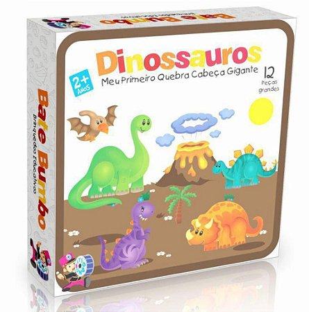 Meu Primeiro Quebra Cabeça Gigante Dinossauros  - 2+