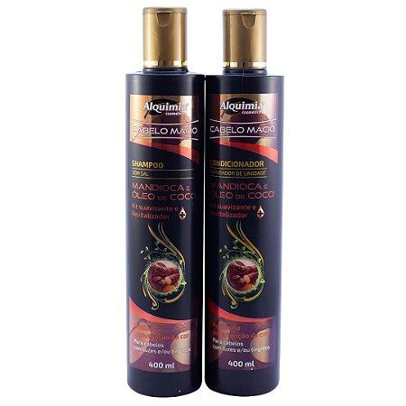 Kit Shampoo e Condicionador - Broto de Bambu e Óleo de Cartamo / Mandioca e Óleo de Coco