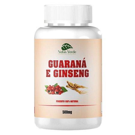 Guaraná e Ginseng - 60 Caps de 500Mg