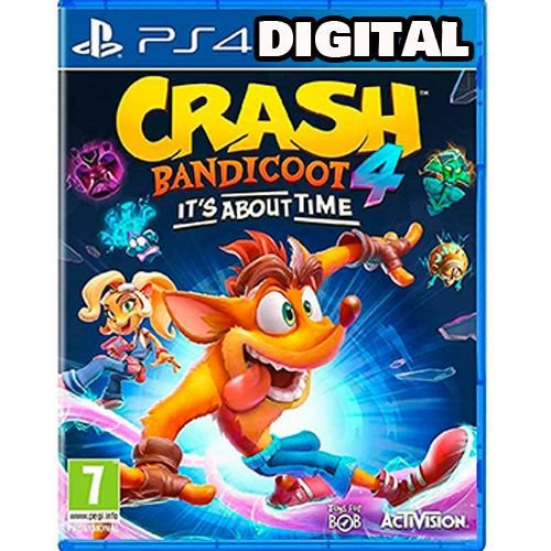 Crash Bandicoot 4 it's About Time - Ps4 - Mídia Digital