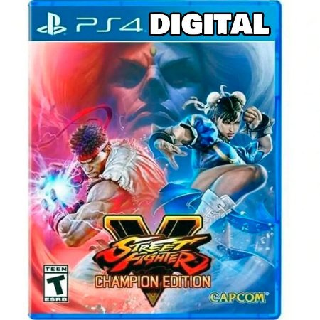 Street Fighter 5 - V - Champion Edition - Ps4 - Mídia Digital