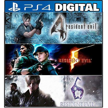 Pacote Triplo Resident Evil - Ps4 - Mídia Digital