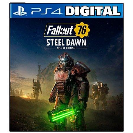Fallout 76 Aurora de Aço – Edição Deluxe - Ps4 - Mídia Digital
