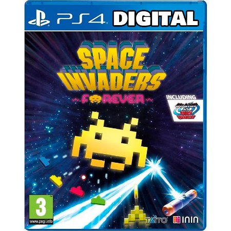 Space Invaders Forever - Ps4 - Mídia Digital