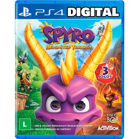 Spyro Reignited Trilogy - Ps4 - Mídia Digital