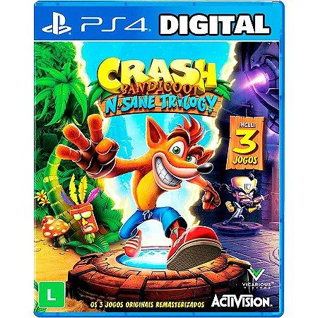 Crash Bandicoot N. Sane Trilogy - Ps4 - Mídia Digital