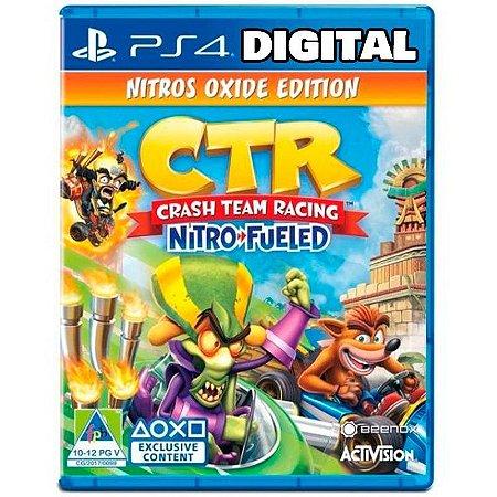 Crash Team Racing Nitro-Fueled - Nitros Oxide Edition - Ps4 - Mídia Digital