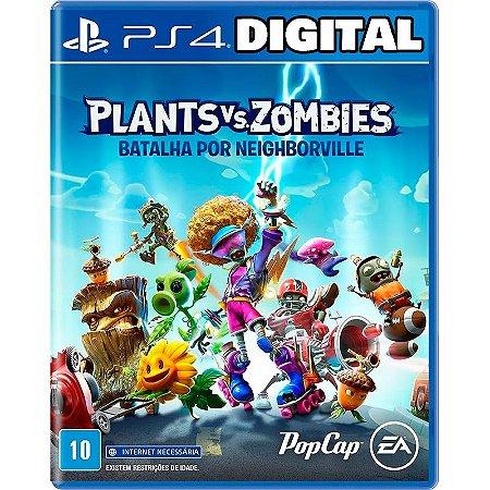 Plants vs Zombies Batalha por Neighborville - Ps4 - Mídia Digital