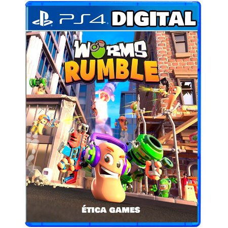 Worms Rumble Ps4 - Ps5 - Mídia Digital