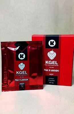 KGEL Óleo para Massagem Corporal Hot - Morango Sachê 5g - Caixa com 5 unidades