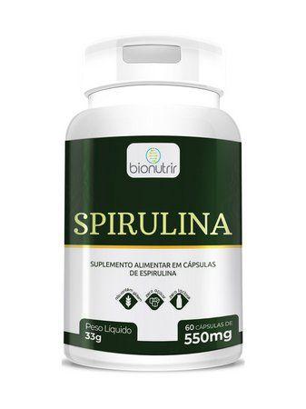 Spirulina 60 Cápsulas Bionutrir