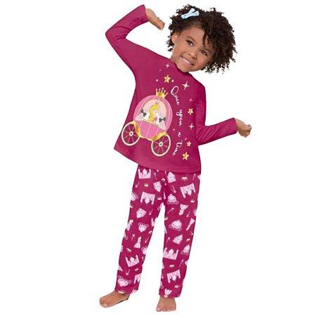 Pijama Longo Infantil Feminino Once Upon a Time