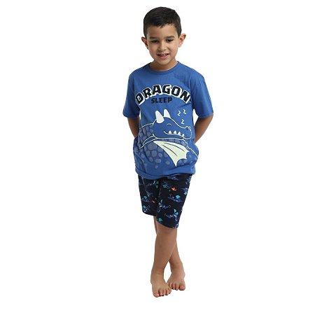 Pijama Curto Infantil Masculino Dragon Sleep