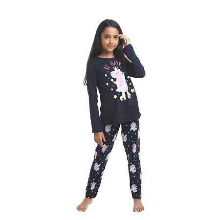 Pijama Longo Infantil Feminino Be Happy