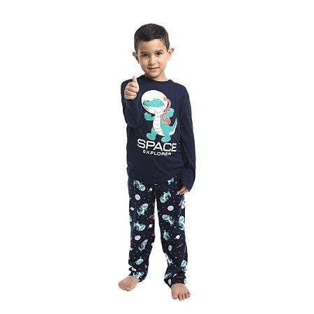 Pijama Longo Infantil Masculino Space Explorer