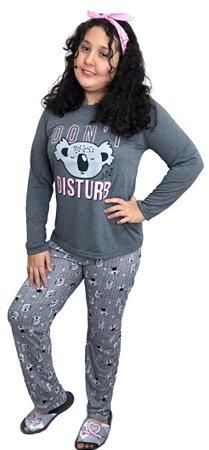 Pijama Longo Adulto Feminino Don´t Disturb