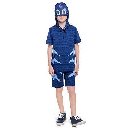 Pijama Curto Infantil Masculino PJMasks Menino Gato