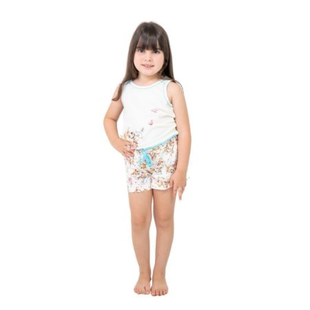 Pijama Curto Infantil Feminino Cachorrinho Cupido