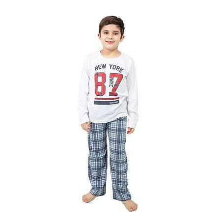 Pijama Longo Infantil Masculino New York
