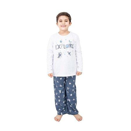 Pijama Longo Infantil Masculino Explore