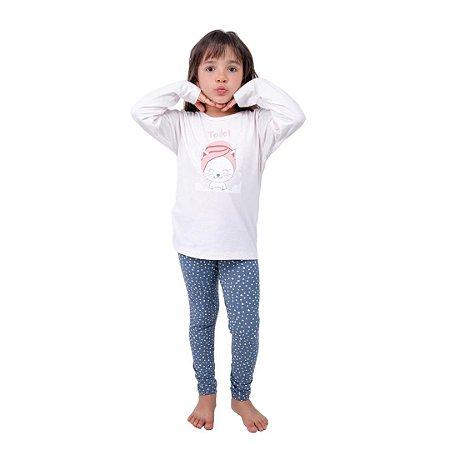Pijama Longo Infantil Feminino Toilet