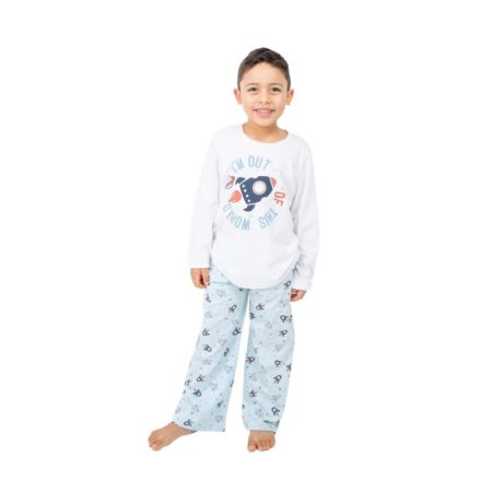 Pijama Longo Infantil Masculino I´m Out Of This World