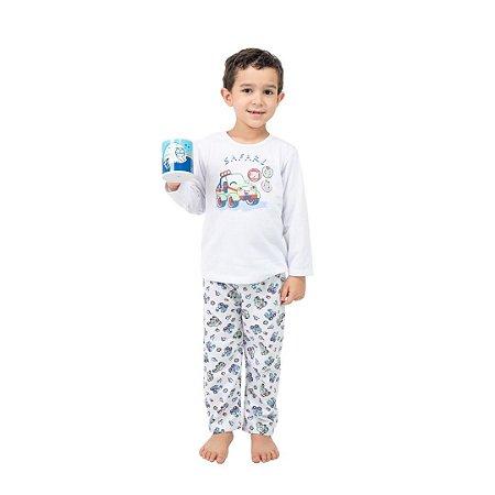 Pijama Longo Infantil Masculino Safari