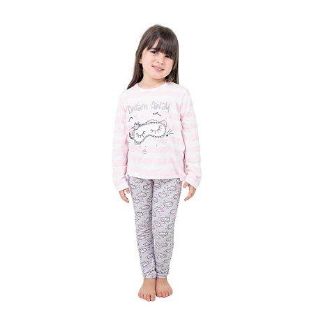 Pijama Longo Infantil Feminino Dream Away