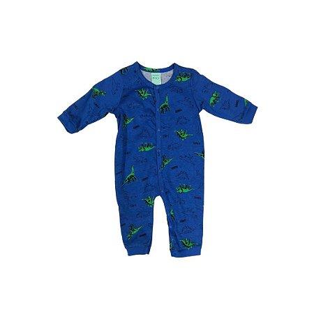 Macacão Infantil Dinossauro Azul