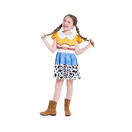 Pijama Curto Infantil Feminino Toy Story Jessie