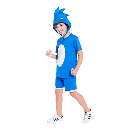 Pijama Curto Infantil Masculino Sonic