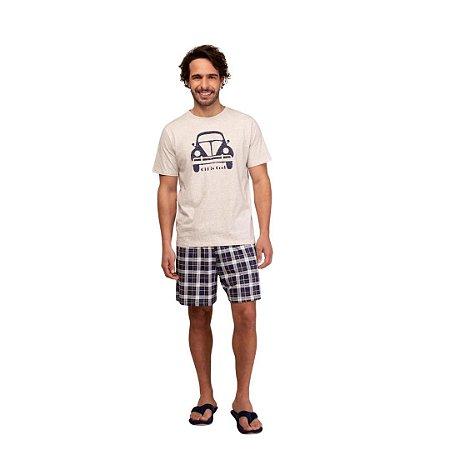 Pijama Curto Adulto Masculino Fusca Old Is Cool