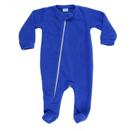 Macacão Ziper Azul Royal Soft Tamanho P De 1 até 3 Meses
