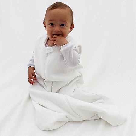 Saco de Dormir Baby Matelasse Off-White Ziper