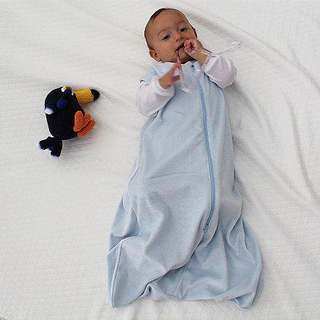 Saco de Dormir Baby Plush Azul Bebe Ziper Invertido