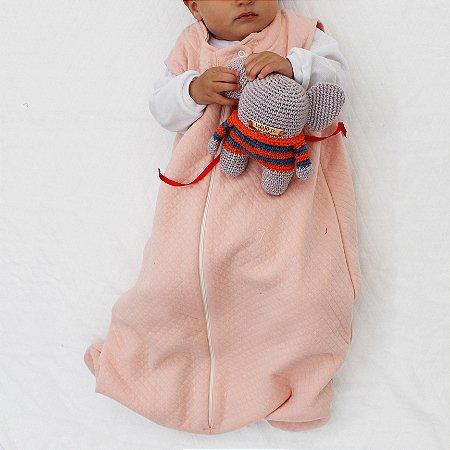 Saco de Dormir Baby Matelasse Pessego Ziper De 1 até 12 Meses