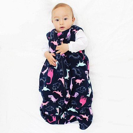 Saco de Dormir Baby Dinossauro Soft Ziper  De 1 até 12 Meses