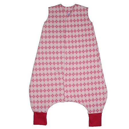 Saco de Dormir Crescidinhos 1 Soft Escocês Rosa Botão De 4 até 7 Meses