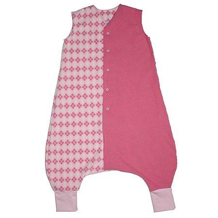 Saco de Dormir Primeiros Passinhos Escocês Pink Botão De 1 até 3 Anos