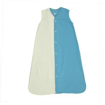 Saco de Dormir Baby Soft Inverno Amor Azul e Branco Botão De 1 até 12 Meses